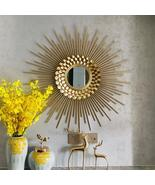 Decorative SunFlower Wall Mirror Hanging in Wrought Iron - $389.00
