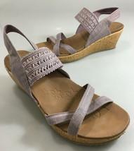 "Skechers Womens 10 Luxe Foam Lavender Sandals 2.5"" Wedge Heels Slingbacks - $39.69"
