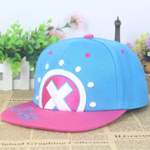 One Piece Tony Chopper Adjustable Blue Canvas Baseball Cap Sun Hat Anime... - $13.09