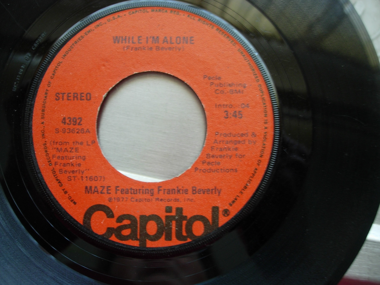 Maze - Color Blind / While I'm Alone - Capitol 4392