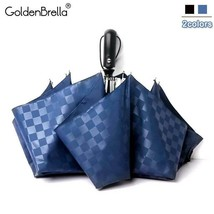 GoldenBrella® 120cm Automatic High Quality Grid Umbrella Rain Women 3Fold - $26.26