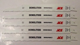 "Ace by Bosch 9"" x 6 TPI Demolition Bi-Metal Reciprocating Blades 2198133... - $6.44"