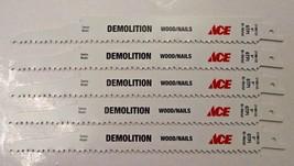 "Ace by Bosch 9"" x 6 TPI Demolition Bi-Metal Reciprocating Blades 2198133... - $6.44"