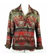 COLDWATER CREEK Size 14 Indian Blanket Jacket  Wool Look - $31.99
