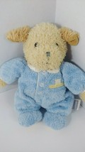 Carters Plush Puppy dog Cream tan Brown Rattle blue Just Stay little bear  - $8.90