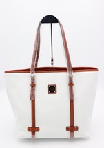NWT Dooney & Bourke White Pebble Grain Leather East West Shopper Tote Ba... - $188.00