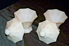 White Milk Glass Compote (*2) AA20-2315 Vintage
