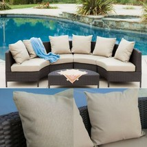 Brown Rattan Patio Seating Furniture Set Sectional Sofa Lounge Outdoor G... - $949.00