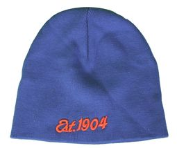 Mitchell & Ness Royal Blue Orange Est 1904  New York Knick Color-Way Beanie NWT image 4