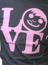 Neff Womens Charcoal Lovely Girls Sucker Face Love Statue T-Shirt NWT image 4