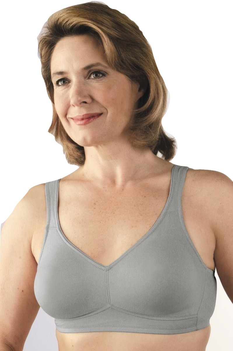 Primary image for Classique Grey Seamless Microfiber Mastectomy Pocket Bra - 38B
