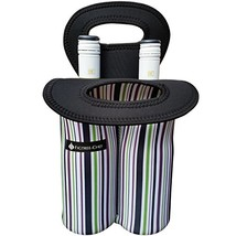 FIGTREE-CHEF 2-Bottle Wine Bag - Insulated Thick Neoprene Double Tote fo... - $16.91