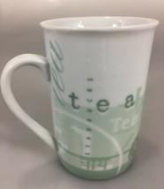 Starbucks Tazo Tea Green White Mug Cup 8 oz 1998 - $24.01