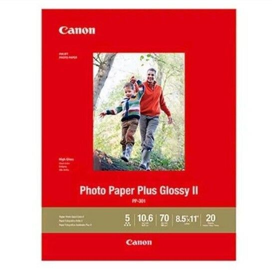 "Canon PP-301 Photo Paper Plus Glossy II 8.5 x 11"", 20 Sheets 1432C003 - $19.79"