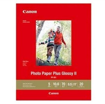 """Canon PP-301 Photo Paper Plus Glossy II 8.5 x 11"""", 20 Sheets 1432C003 - $19.79"""