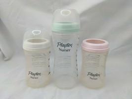 Playtex Nurser Drop in Bottles 4 oz 8 oz Lot of 3 2011 2012 #19 No Nipples - $19.95