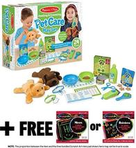 Feeding & Grooming Pet Care: Playset + 1 Melissa & Doug Scratch Art Mini-Pad Bun - $44.30