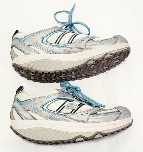 Women's Skechers Shape Ups Leather Toning Athletic Sneakers Size 9 11814