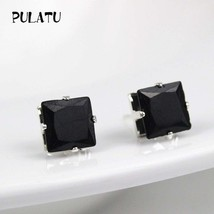 Fashion Square Earring For Women mm Simulated Zircon Small Stud Earrings... - $20.00