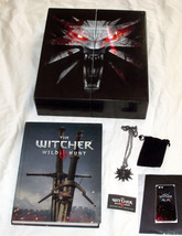 The Witcher 3 Wild Hunt Collectors Edition Guide, Box, Pendant & Phone C... - $98.99