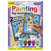 """My First Paint By Number Kit 8.75""""X11.375"""" 2 Per Pack Kitten  and Puppy - $10.13"""