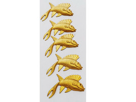Gold Tone Fish Charms, Set of 5 #4376