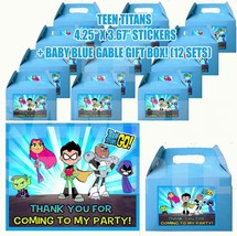 TITANS MOVIE GO Favor Boxes Thank you Decals Stickers Loots Party Candy ... - $24.70