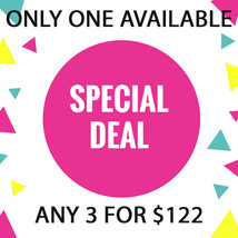 Wed - Thurs Flash Sale! Pick Any 3 For $122 Best Offers Discount - $244.00