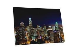 "Pingo World 0901Q1TQRVG ""Charlotte Downtown Night Skyline"" Gallery Wrapp... - $158.35"