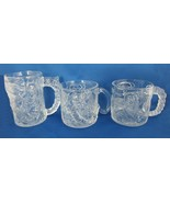 3X 1995 McDonald's DC Comics Batman Forever Riddler Two Face Clear Glass Mug Cup - $17.99