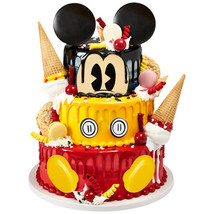 Mickey Mouse Cake Decoration Party Supplies Kit Birthday Cupcake Treats ... - $9.85