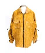 M Julian Leather Jacket Tan Distressed Wilsons Safari Work Coat MJX-823-... - $78.20