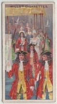 1727 Coronation Of King George II 100 Y/O Trade Ad Card - $8.09