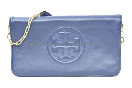 NWT Tory Burch Bombe Reva Clutch in Hudson Bay - Blue. Style# 18169698 M... - $312.03 CAD
