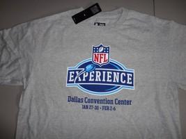 Dallas TX NFL Experience Volunteer Crew Football Gray T Shirt Men L NEW W/ TAGS - $18.51