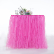 Any Color TABLE TUTU Skirt Rainbow Table Tulle Skirt Tutu Tulle Table Decoration image 6