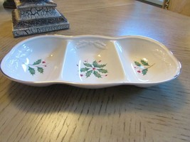 """Lenox China Three Section Rectangle Dish Dimension Collection Holiday 12"""" - $16.78"""