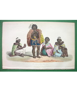 SOUTH AMERICA Natives Charruas Extinct Race - H/C Color Print - $10.12