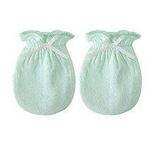 2-Packs Cute Newborn/Infant NO-Scratching Cotton Mittens for 0-6M One Size image 1