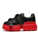 Spring Summer Women Genuine Leather Platform Sneakers Fashion Shoes Chun... - $59.99
