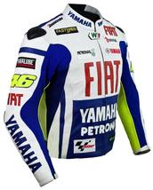 YAMAHA FIAT 46 BLUE MOTORBIKE MOTORCYCLE BIKERS COWHIDE LEATHER ARMOURED... - $194.99