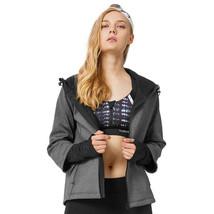 Yvette Women Zipper Drawstring 2 in 1 Velvet Long Sleeve Sports Jackets ... - $83.99