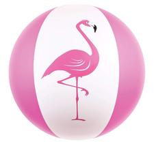 "Kangaroo Beach Balls; 27"" Jumbo Pink Flamingo Beach Ball - $6.99"
