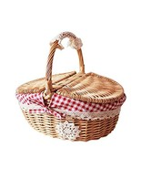 Gentle Meow Hand-Woven Picnic Basket Little Red Riding Hood Basket Easte... - $26.89