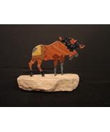Lazart Collectible Metal Sculpture Moose  on Sandstone Native Amer Insp... - $3.99