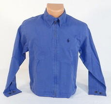 Polo Ralph Lauren Blue Zip Front Chino Jacket Youth Boys Medium M 12/14 NEW - $51.97