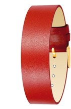 Moog Paris Red Calf Leather Bracelet for Women, Shiny Pattern, Pin Clasp... - $46.65