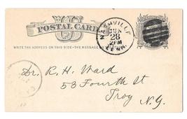 Scott UX5 Nashville Tenn 1879 Fancy Cancel Postal Stationery Card F. A. Chase - $7.99