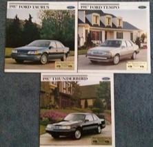 1987 Ford 3 Auto Brochures - Taurus, Thunderbird, Tempo - $29.69