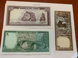 Lebanon set 3 uncirc. banknotes 1980 - $9.95